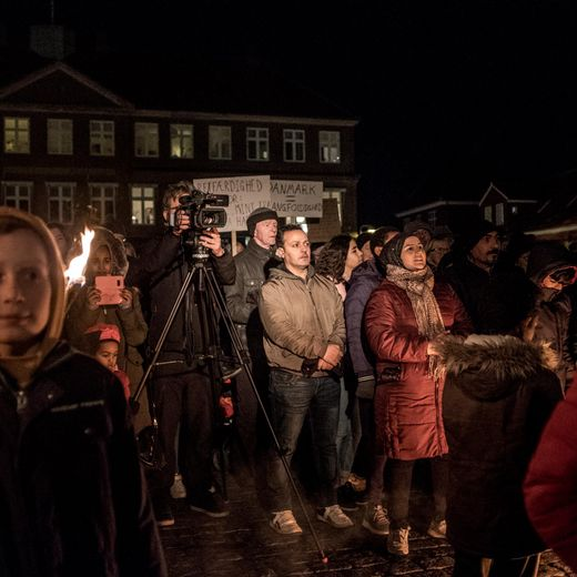 Photo by Vilas Thaulow. Demonstration in Denmark.