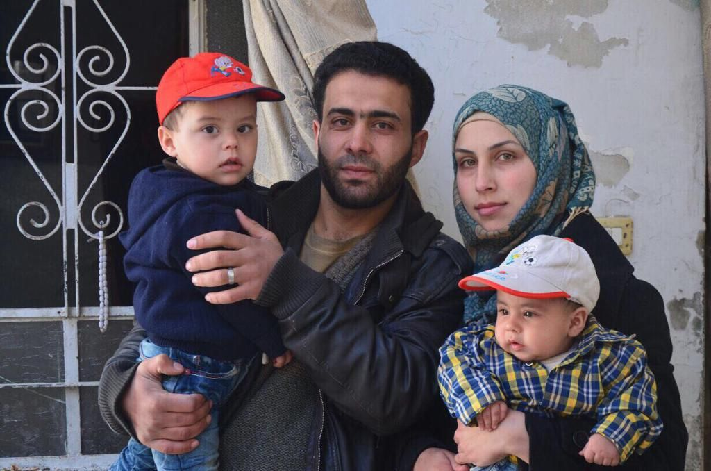 Photo by Salem Mdlala. Family portrait from Syria.